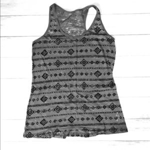 Maurice's racerback tribal pattern tank top
